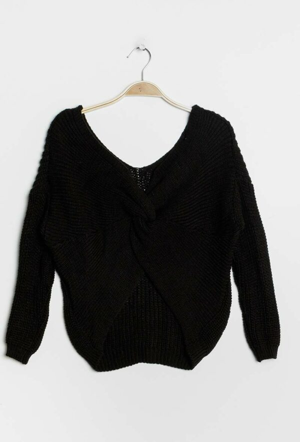 kaia pull avec noeud2 black 1