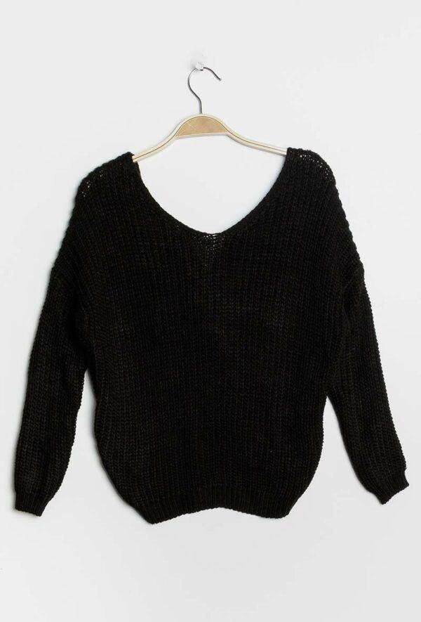 kaia pull avec noeud2 black 2