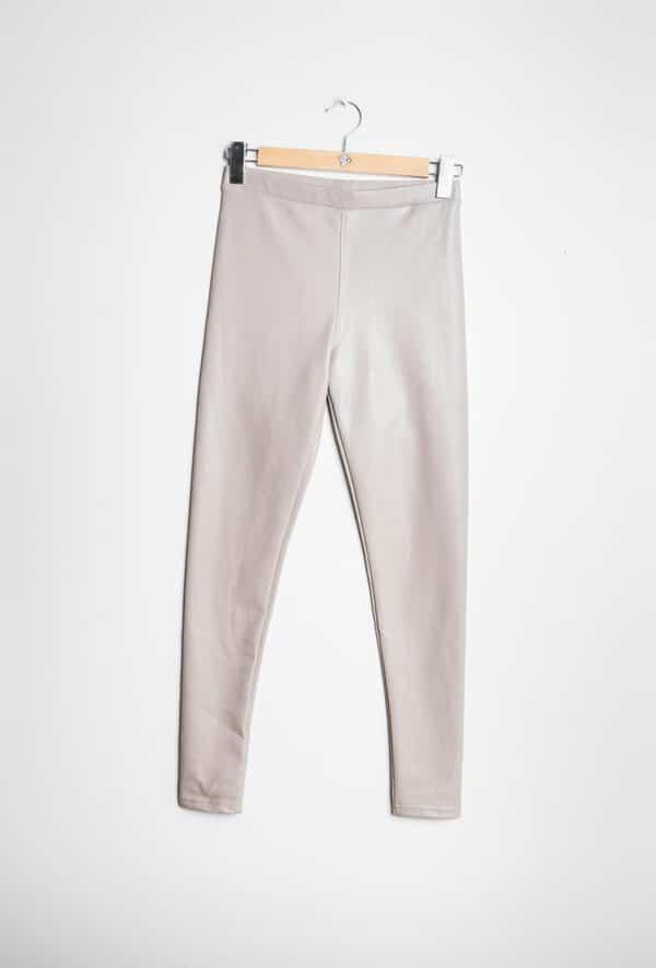 softy pantalon legging simili cuir taupe 1