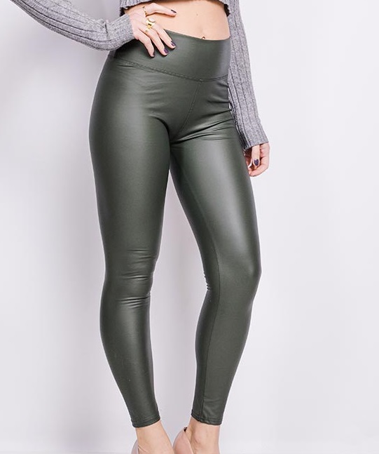 e diva 3020 leggings en similicuir1 kaki 3