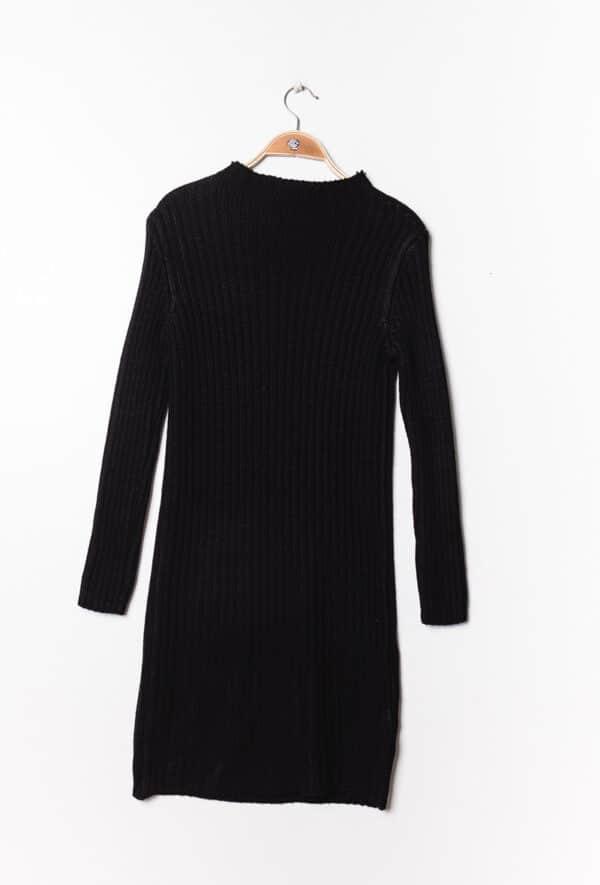 estee brown robe en maille cotelee black 2