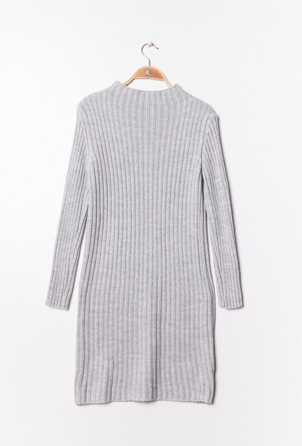 estee brown robe en maille cotelee light gray 2